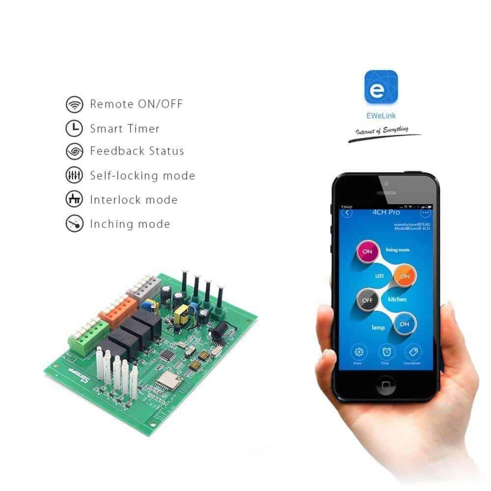 Recensione Sonoff 4CH Pro R2 | Prezzo e opinioni sullo smart switch Sonoff