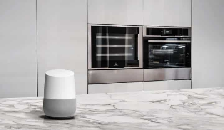 forno electrolux google assistant