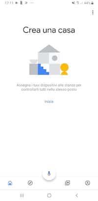 Inizio della configurazione guidata di Google Home Mini
