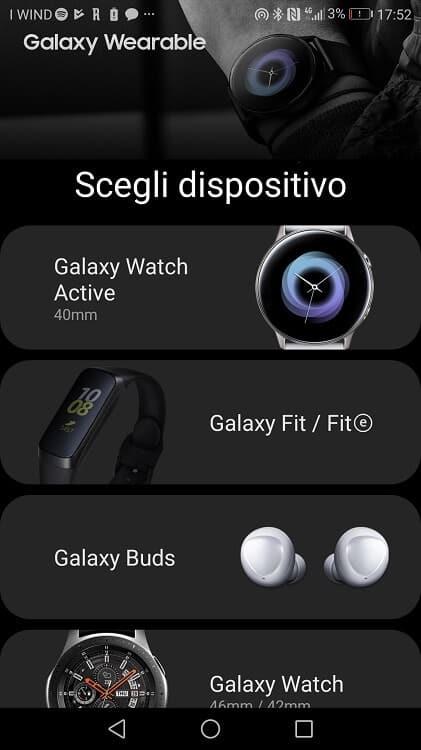 La configurazione iniziale di Samsung Galazy Fit E è piuttosto rapida e semplice