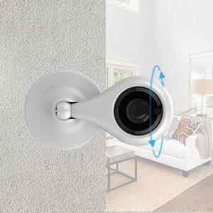 la videocamera keyke può essere ruotata a 360° e posizionata verticalmente