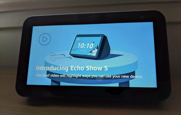 prova del nuovo smart display alexa