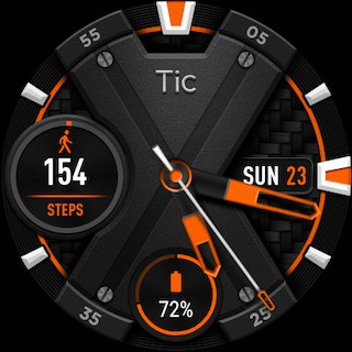 Quadrante alternativo di TicWatch E2