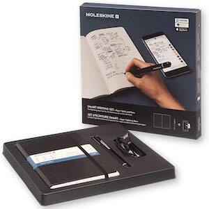 set moleskine regalo smart writing
