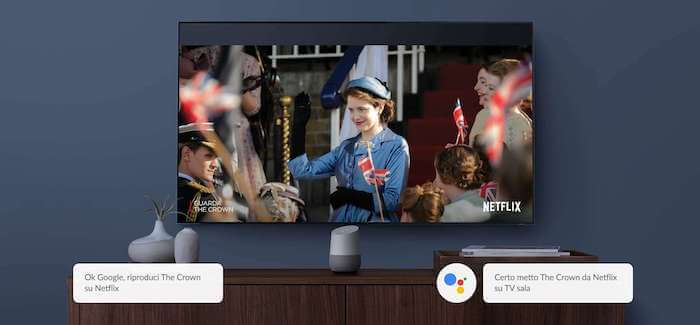 come collegare google home alla tv nest mini