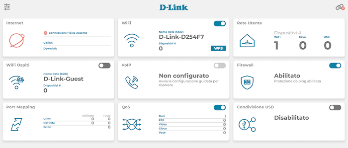 interfaccia dlink dva 5593