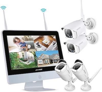 kit videosorveglianza con monitor