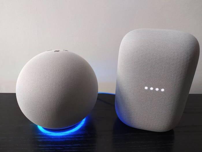 amazon echo 4 vs google nest audio confronto differenze